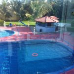 Swimming pools (small circular one is for children)