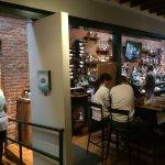 Dining area near bar