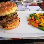 double burgers et petits légumes