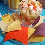Delicious shrimp ceviche!