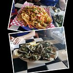 Crawfish Nachos and Oysters Rockefeller