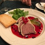 Reindeer Pate with wild berry sauce