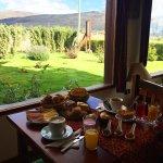Desayuno con hermosa vista