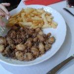 Mound of calamari from menu del dia