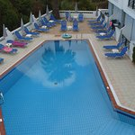 View of pool area from one of our balconies (located above pool bar)