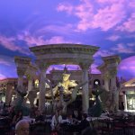 Fountain of the Gods view from Oval Bar Trevi Las Vegas