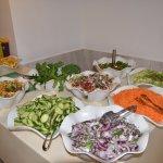 A choice of fresh veggies...