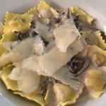 Bruschettas not quite traditional and mushroom ravioli weren't nice!