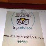 My dear hosts at Molly's Bistro! Such wonderful staff.