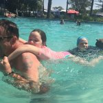 The pool area at Tallebudgera Creek Tourist Park - fun for the whole family!