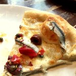 Pizza with White Anchovy, Olives, Capers and Chilis