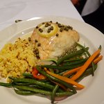 Seared Halibut w/vegs