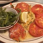 Broiled fish fry was delicious I opted for a healthier way with tomatoes & green beans so delici