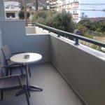 seats & table on balcony