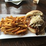 Pulled Pork Sandwich with fries ...