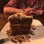 "The ""it's the size of Texas"" carrot cake - NO LIE :)"