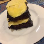 Choco-durian cake