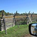 fencing around the battlefield area