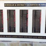 War Memorial sacrifices plaque