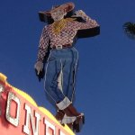 """River Rick"" neon cowboy"