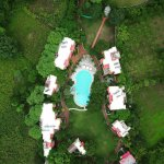 Arial view of the resort.