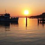 Sunset on Lake Garda, taken from Vittoria outdoor dinning.