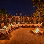 Dinner is served in a leadwood boma around a fire most nights