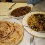 Lamb Malabar, Chicken Biryani and Malabar Porotta