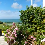 terrasse vue sur verdure et mer