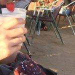 outdoor seating (self service here) san alcohol pina colada