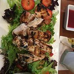 Grilled Chicken and Blush Strawberry Salad was delicious, fresh and the perfect dressing