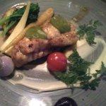 Monkfish with seasonal vegetables