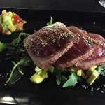I thoroughly enjoyed the Seared tuna starter. The portion was so generous, it would have done fo
