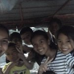 With his students in the tuk tuk