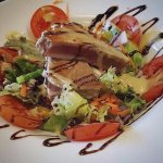 Fresh Tuna Salad, with homemade dressing and balsamic glaze (available from our specials menu)