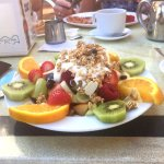 FRUIT PLATTER WITH YOGHURT AND GRANOLA