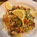 The wonderful seafood salad