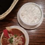 Tortilla soup, New England clam chowder