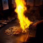 Flaming the food!