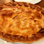 Pigeon, ox tail and pig's trotter pie