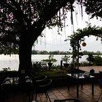 Patio dinning overlooking the Saigon River