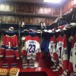 Montreal Canadians changing room