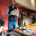 """Pierre explains how the """"terroir"""" the earth effects the taste of the wine"""