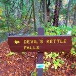 Devils Kettle Falls Sign