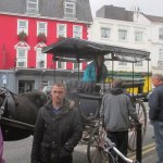 Jaunting cart in front of the hotel