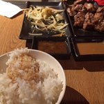 Hibachi steak, vegetables and rice