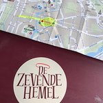 DeZevende Hemel menu cover and map location Bruges Belgium