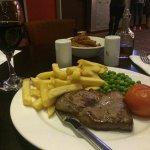 Steak in the bar/restaurant