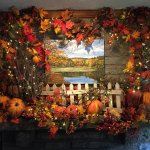 The  Fall Mantel in Our Lobby