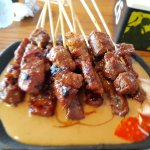 Irresistible beef satay with yummy peanut sauce